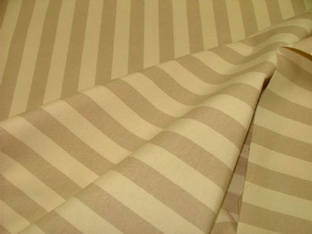 Prestigious Textiles Beige & Cream Ticking Curtain /Upholstery Fabric